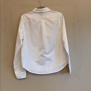 Disney Tops - Disney White Button Down w/ Embroidered Character